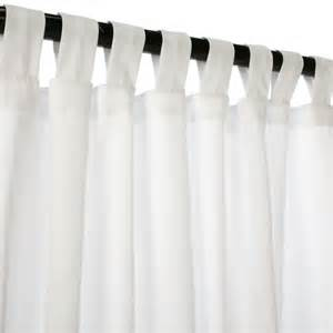 Curtains With Tabs Canvas White Sunbrella Outdoor Curtains With Tabs