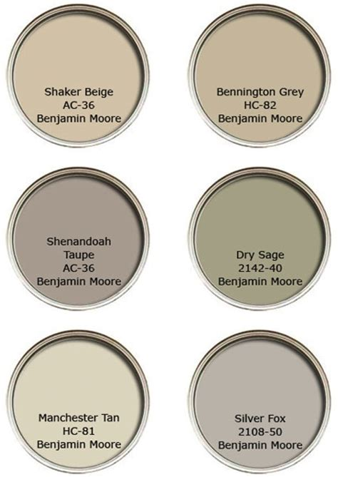 suggestions for neutral paints by benjamin