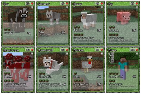 Printable Trading Card Games | minecraft trading card game minecraft party