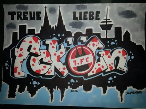 drawing graffiti letters first football club cologne 1