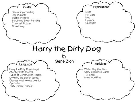 free coloring pages of harry the dirty dog