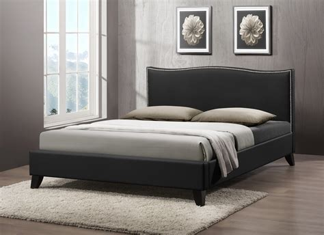 queen upholstered headboard clearance baxton studio battersby black modern bed with upholstered