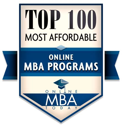 The Most Affordable Mba by Top 100 Most Affordable Mba Programs 2018