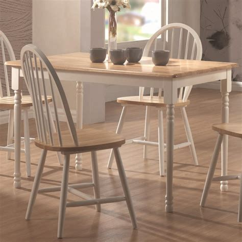 coaster damen 4147 rectangle leg dining table del sol