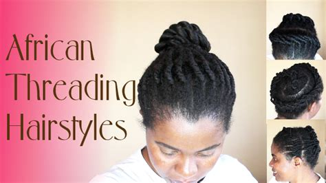 natural hair and tread styling african threading on natural hair natural