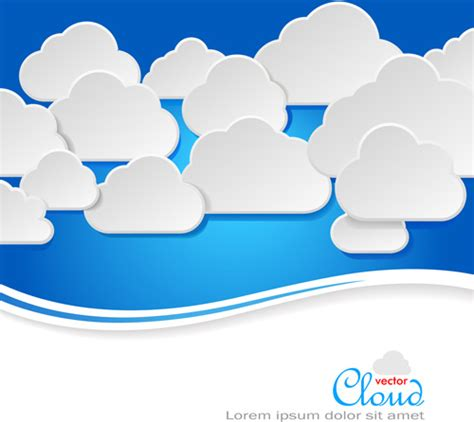 Business Social Template With Cloud Backgrounds Free Vector In Encapsulated Postscript Eps Cloud Business Template