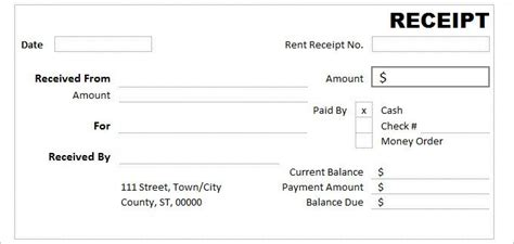 dr receipt template blank invoice template in word