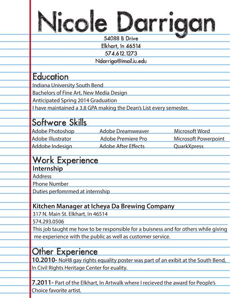Best Resume Examples For Highschool Students by Resume