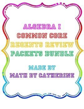 Pdf Geometry Common Regents Review Packet by Algebra I Common Regents Review Packets Bundle
