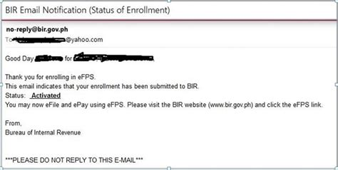 Letter Of Intent Efps Sle how to register with the bir efps efiling and payment system business tips philippines