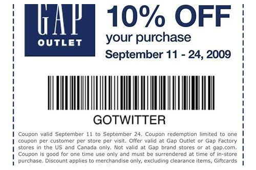 gap outlet store coupons printable
