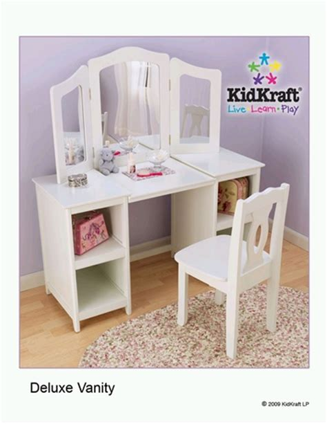 Kidkraft Vanity Table Kidkraft Deluxe Vanity Table And Chair 13018