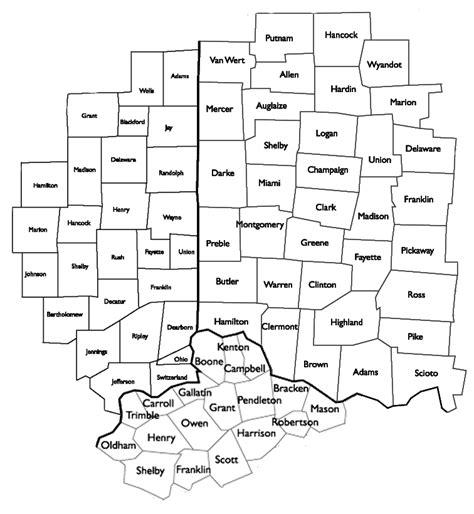 map of ohio ky indiana indiana and ohio county map indiana map