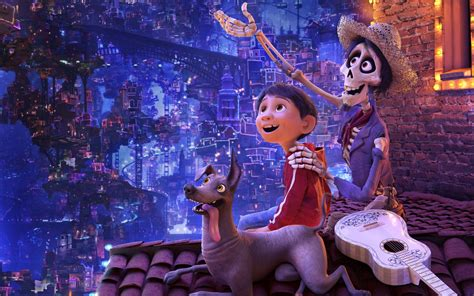 coco download movie wallpaper coco miguel dante hector pixar animation