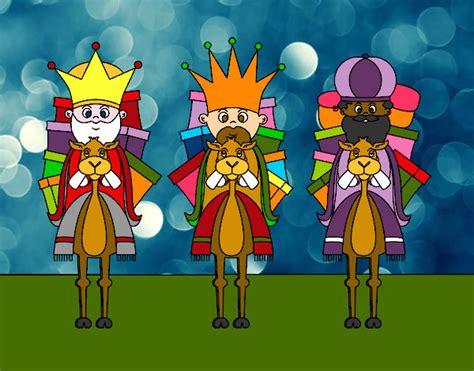 imagenes reyes magos con camellos dibujo de reyes magos en camello pintado por queyla en