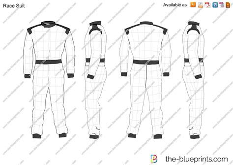 racing suit template the blueprints vector drawing race suit