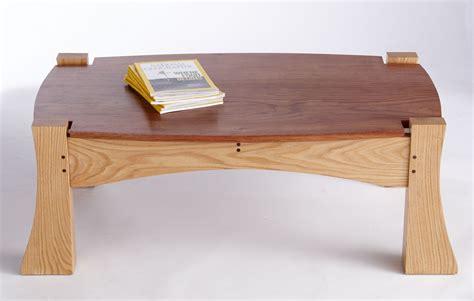 custom made oak tables custom bubinga and oak coffee table by aries furniture