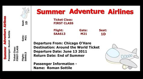 ticket template free 7 best images of airline ticket template free printable