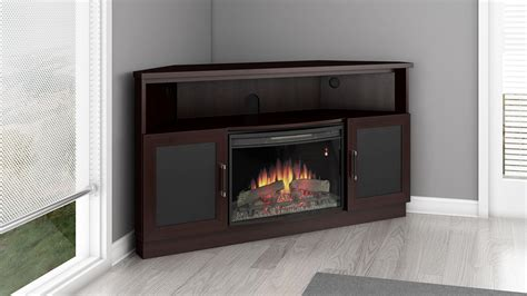 electric corner fireplace entertainment center aragon 25 quot corner media electric fireplace in wenge