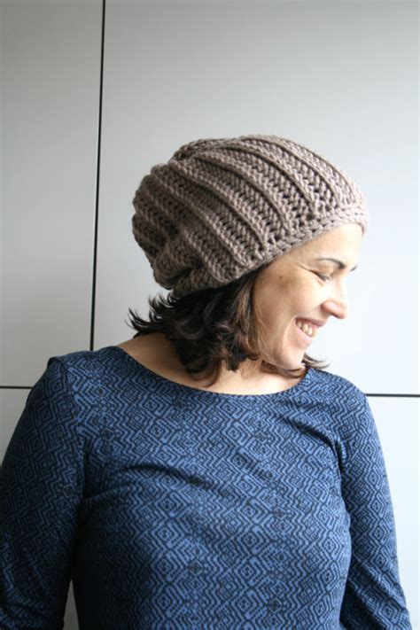 crochetpatteran for hat that looks like layers crochet pattern crochet hat pattern knit look slouchy beanie