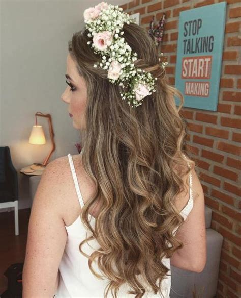 Wedding Hairstyles With Veil And Flower Big by Half Up Half Wedding Hairstyles 50 Stylish Ideas