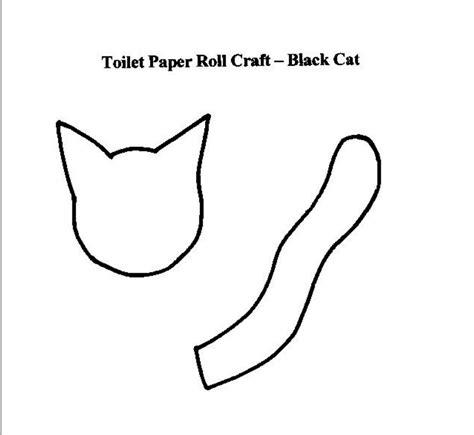 black cat template cardboard black cat