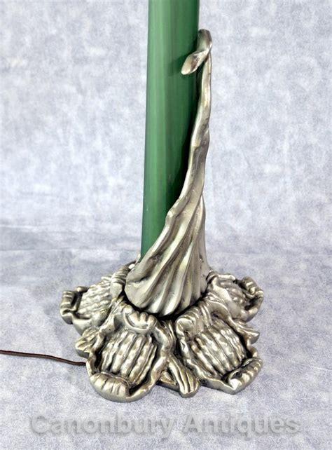 galle glass l shade art nouveau silver bronze galle mushroom l glass