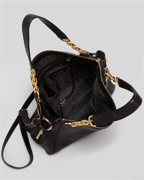 Michael Michael Kors Big Valley Satchel by Lyst Michael Kors Large Satchel Bag In Black