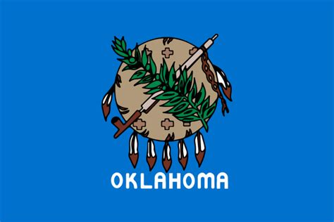 oklahoma state colors file flag of oklahoma 1988 2006 svg wikimedia commons
