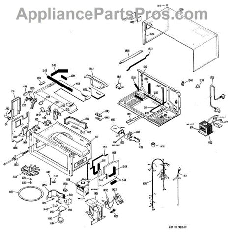 Toaster Oven Parts parts for ge jmt1901 microwave toaster oven parts appliancepartspros