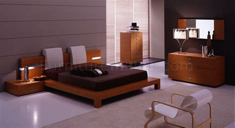 teak bedroom set teak finish contemporary bedroom set with platform bed