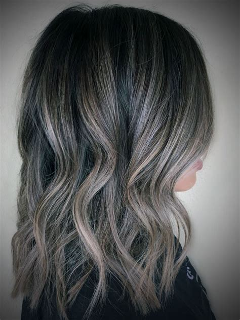 ash blond with grey highlights dark ash blonde highlights on black hair haircuts styles