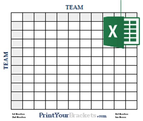 Free Football Square Template by Excel Spreadsheet Football Square Grids
