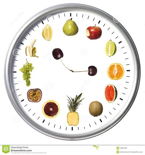 Fruit Clock by Fruit Clock Royalty Free Stock Photo Image 10663785