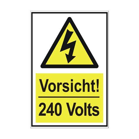 Friseur Einkauf Com Warnschild Quot 240 Volt Elektrische Spannung Quot