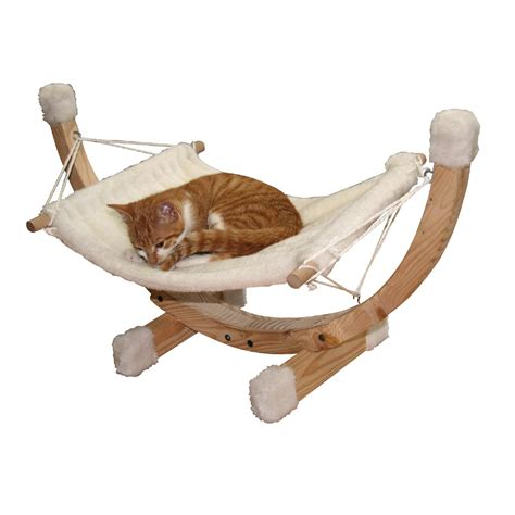 Chat Hamac by Hamac Pour Chat En Bois Siesta Blanc 73x36x34cm Animal Co
