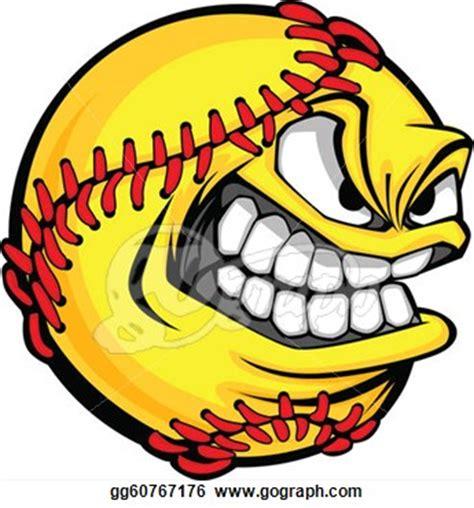 monster softball clipart