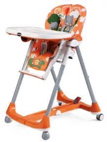 chaise haute prima pappa diner theo arancio bambinou