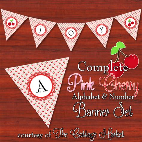 printable alphabet bunting banner free printable complete alphabet and number cottage banner