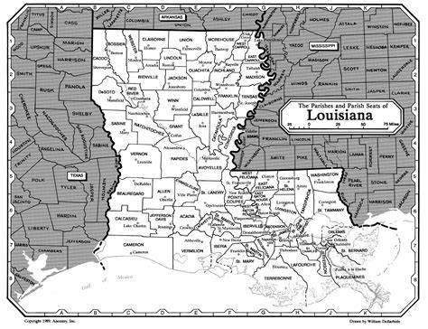 louisiana map index all about genealogy and family history louisiana family