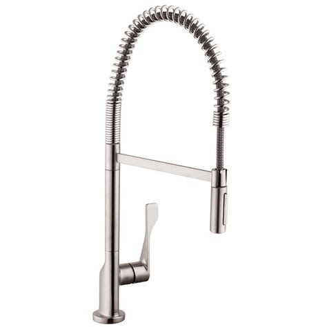 axor citterio kitchen faucet hansgrohe axor citterio semi pro single handle pull sprayer kitchen faucet in steel optik