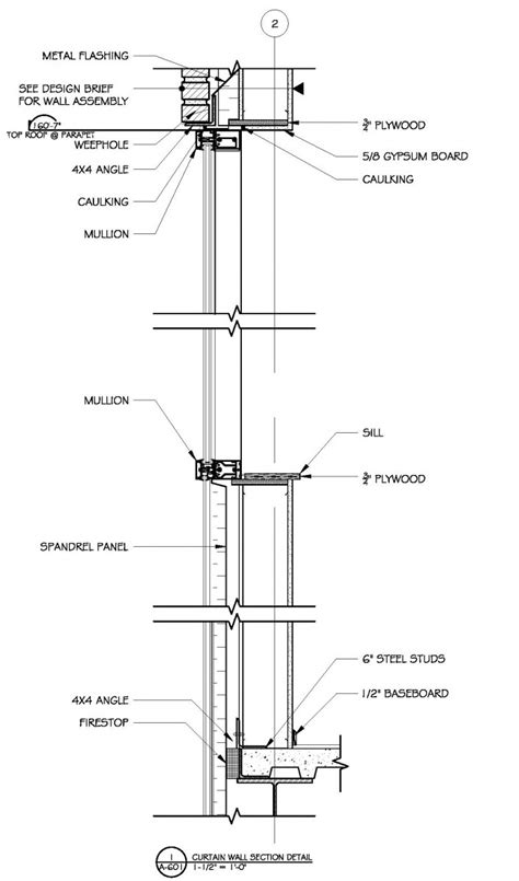 curtain wall detail dwg curtain wall section detail drawing integralbook com