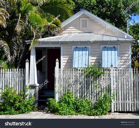typical key west conch cottage style stock photo 84226648