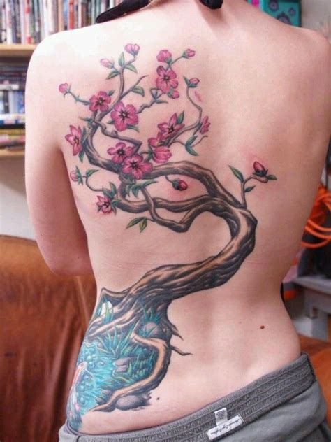 cherry blossom side tattoo cherry blossom tree trees