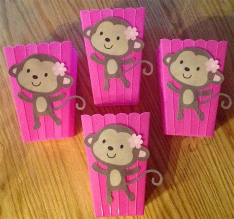 monkey baby shower table decor photograph pink jungle jill