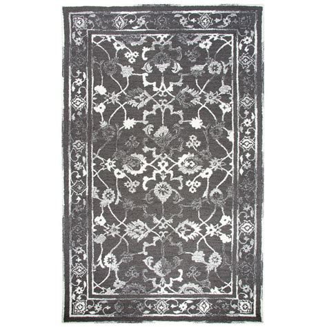 Avalon Area Rugs by Dynamic Rugs Avalon Charcoal Ivory 5 Ft X 8 Ft Indoor