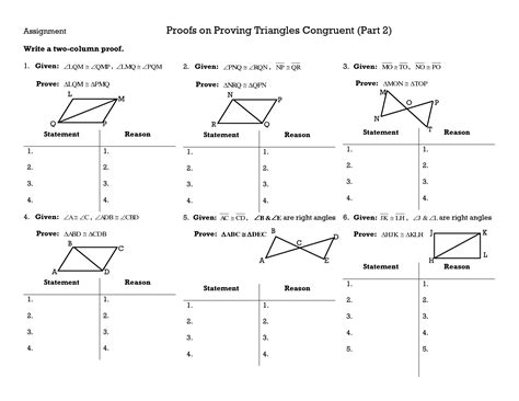 Triangle Congruence Proofs Worksheet by 28 Proving Triangles Congruent Worksheet Proving