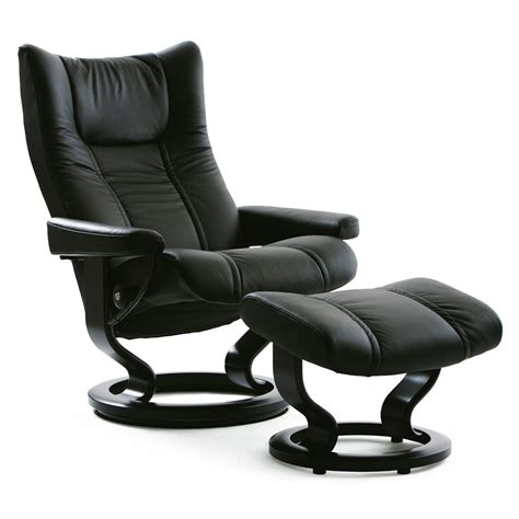 stressless wing recliner stressless wing large recliner ottoman from 2 495 00 by