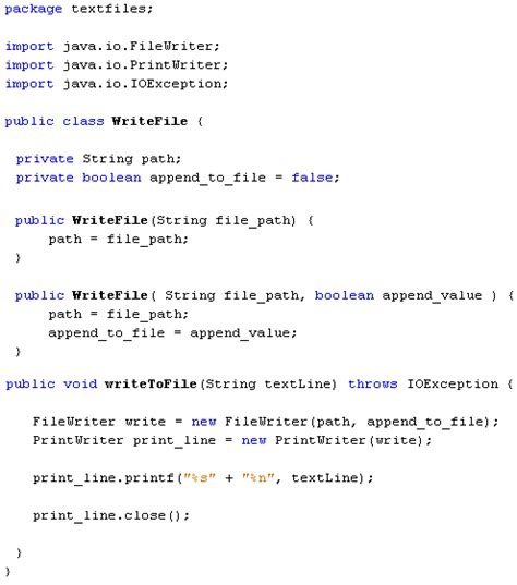 java for complete beginners writing to text files
