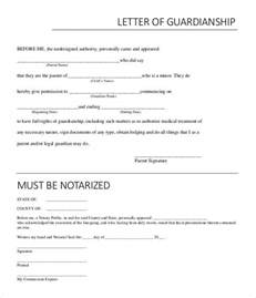 naming a guardian for your child template notarized letter templates 27 free sle exle